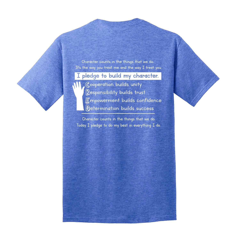 Psms 206 Heather Royal Cred Short Sleeve T Shirt Varsity Central