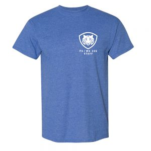 PS/MS 206 Blue Short Sleeve Tee with Pledge