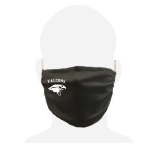 Burlington Township HS Black Cotton Face Cover