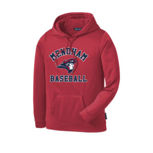 Mendham Baseball Wicking Hoodie – Red