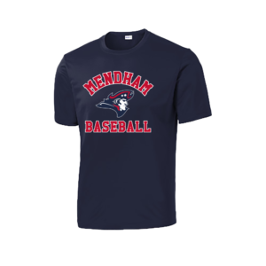Mendham Baseball Wicking Short Sleeve Tee – Navy