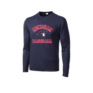Mendham Baseball Wicking Long Sleeve Tee – Navy