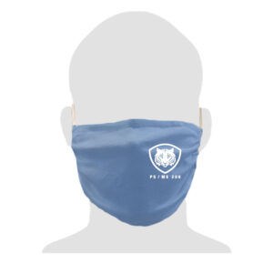 PS/MS 206 2-Ply Adult Cotton Mask – Carolina Blue