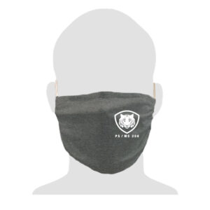 PS/MS 206 2-Ply Adult Cotton Mask – Dark Heather