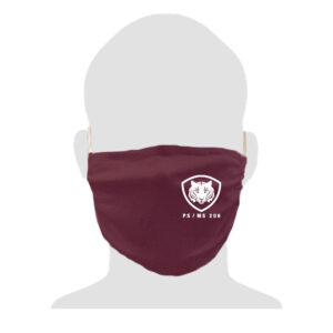 PS/MS 206 2-Ply Adult Cotton Mask – Maroon