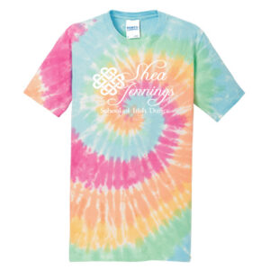 Shea Jennings Pastel Rainbow Tie Dye Tee